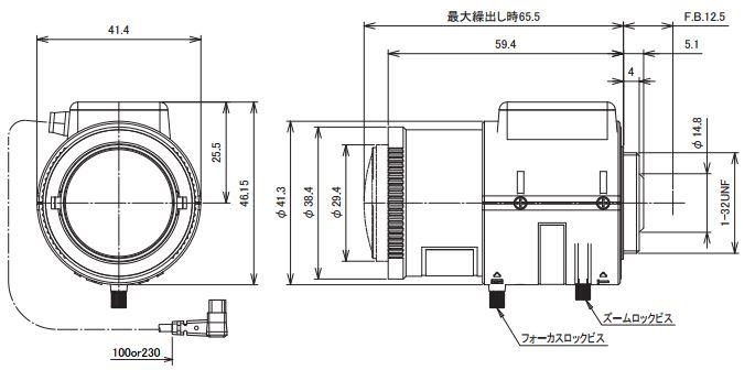TAV2812DCIR寸法図