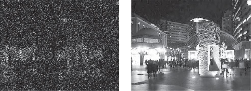 赤外+電子感度アップ+3次元DNR回路の融合による 暗視カメラ