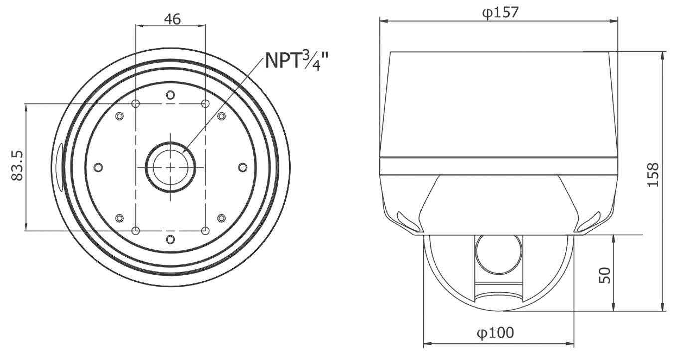TH-AHDZ1021外形寸法図